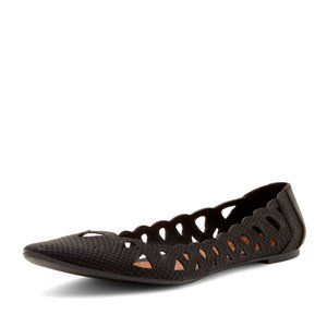 MIA Pointy Toe and Weave Flat Women 7 Nomad Black